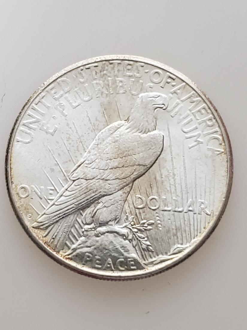 1922-S PEACE DOLLAR, .900 SILVER - 2
