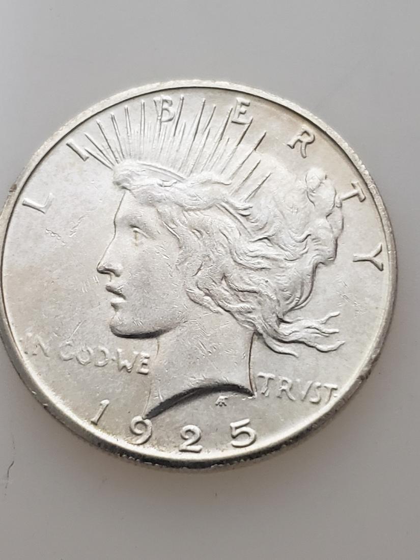 1925-S PEACE DOLLAR, .900 SILVER