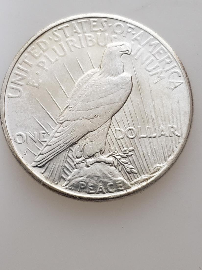 1925-S PEACE DOLLAR, .900 SILVER - 2