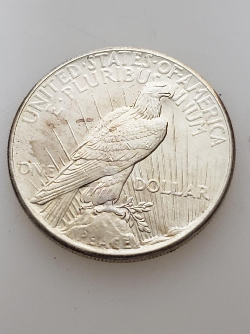 1925 PEACE DOLLAR, .900 SILVER - 2