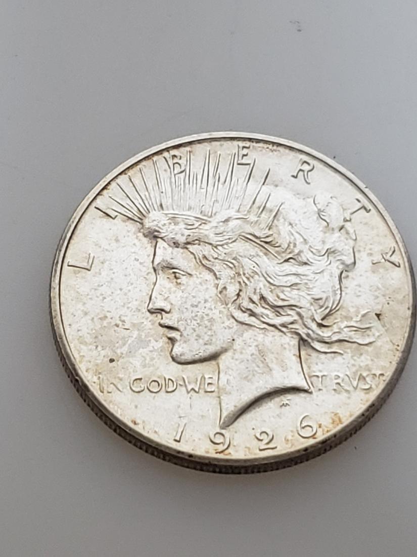 1926-S PEACE DOLLAR, .900 SILVER