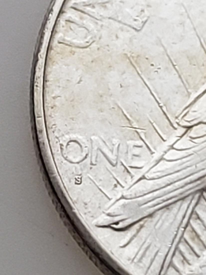 1926-S PEACE DOLLAR, .900 SILVER - 3