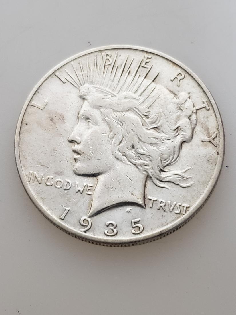 1935 S PEACE DOLLAR, .900 SILVER
