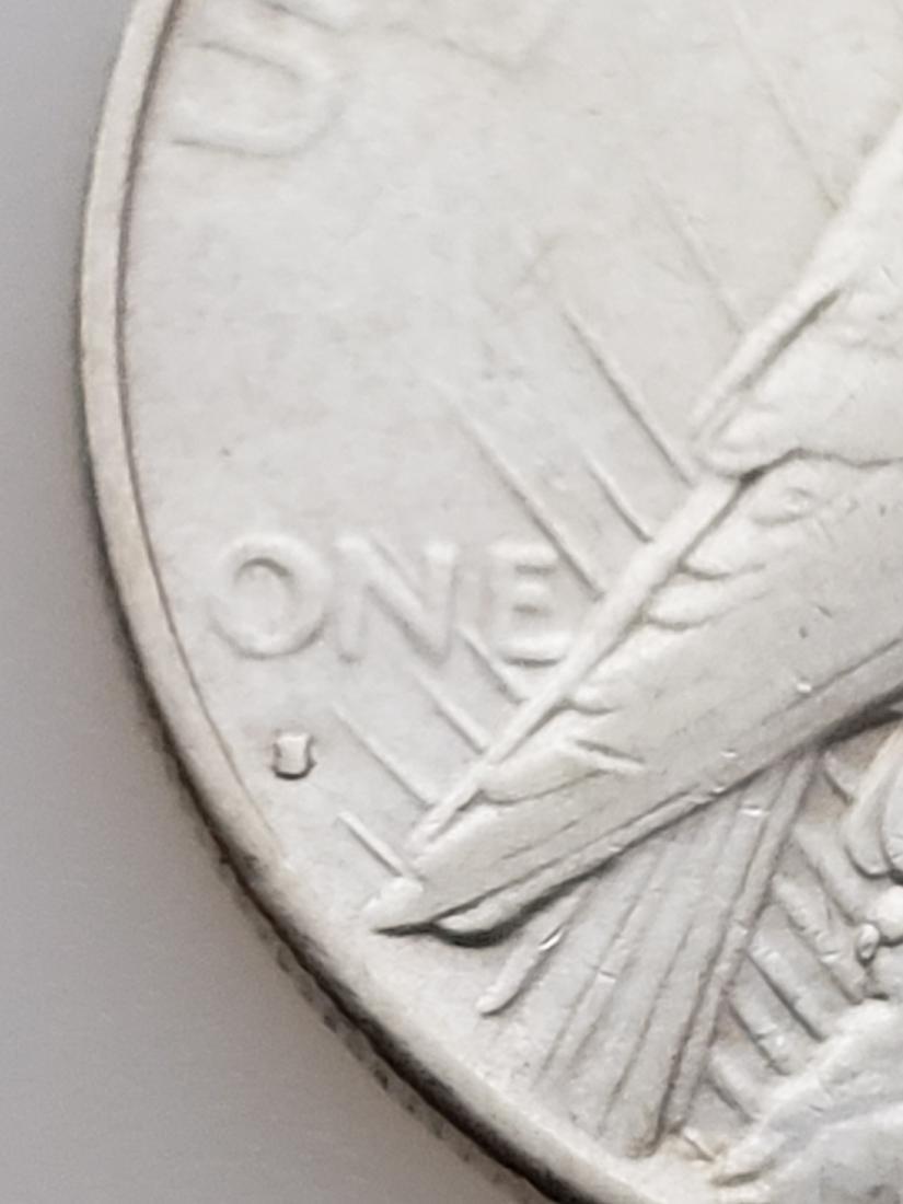 1935 S PEACE DOLLAR, .900 SILVER - 3