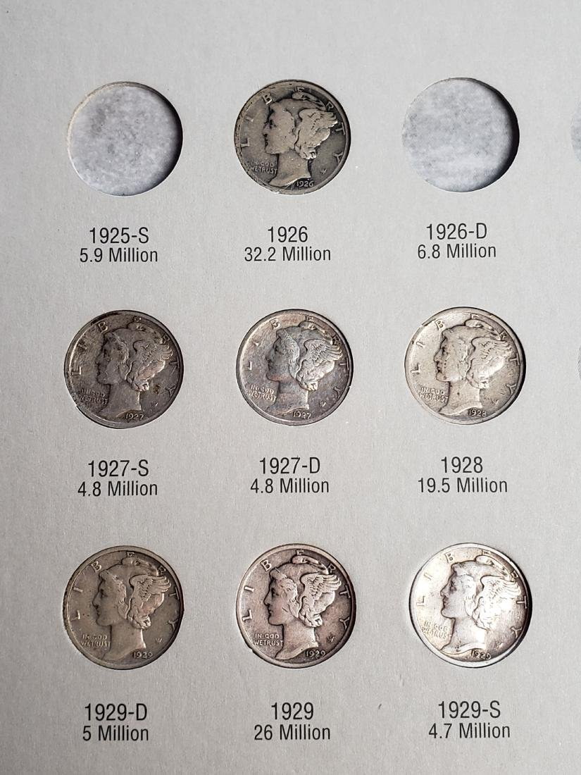 17 Mercury Silver Dimes - 8