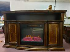 """CONSOLE FIREPLACE, 60"""", ELECTRIC LOGS"""