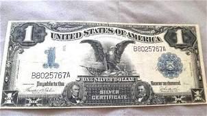 1899 Large $1 Black Eagle Silver Certificate
