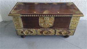 INDIAN SHIRAZI or DOWRY or TRADERs CHEST