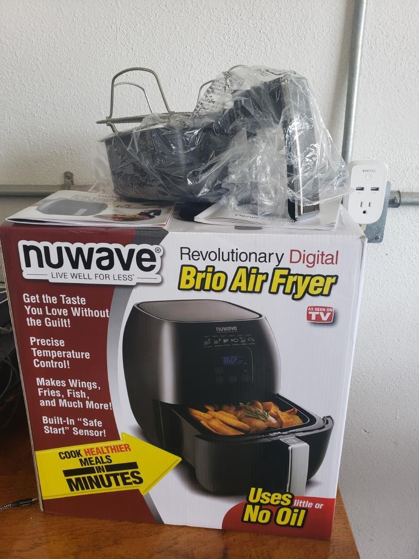 NEW WAVE BRIO AIR FRYER, GRILL, RECIPES, NIB