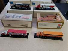 SIX DIE CAST METAL TRUCKS BANKS ALL IN BOXES