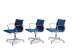 Charles & Ray Eames: Aluminum Group armchairs (6)