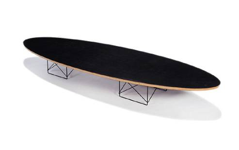 Charles & Ray Eames: Elliptical Table Rod Base coffee