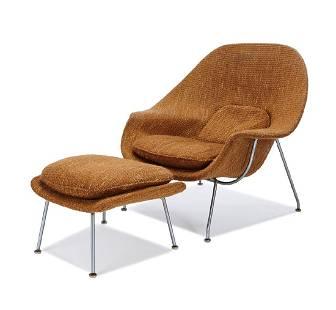 Eero Saarinen: Womb chair and ottoman (2)