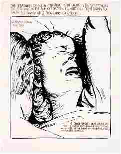 Raymond Pettibon: Untitled (The Creatures of Flesh...)