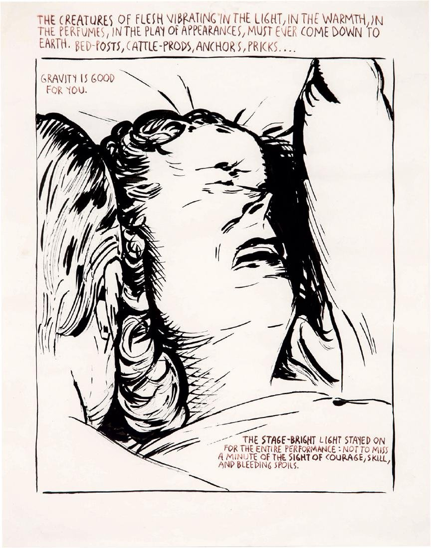 Raymond Pettibon: Untitled (The Creatures of Flesh...)
