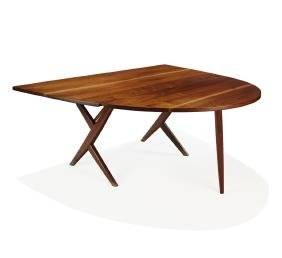 George Nakashima: Cross-legged drop-leaf dining table