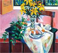 Robert Frame: Pink Still Life