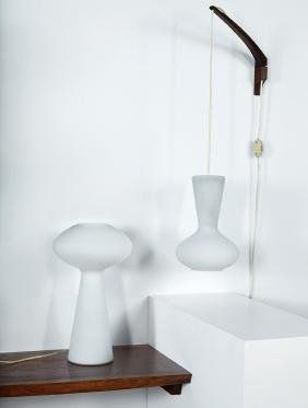 Lisa Johansson-Pape: Wall-applied lamp and table lamp