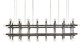American Modern: Monumental atomic hanging lamp