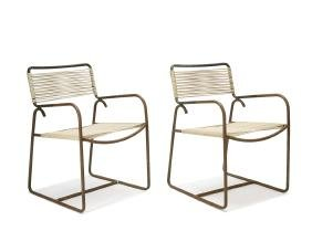 Walter Lamb: Side table and armchairs (3)
