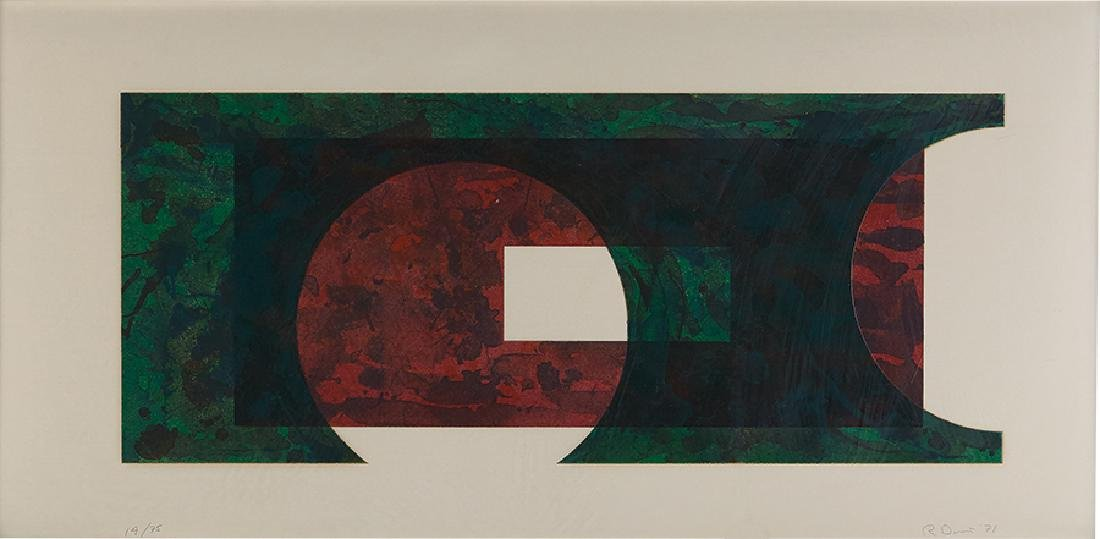Ronald Davis: Two Circle (from Rectangle Series)