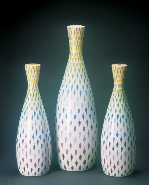 3: Stig Lindberg Attributed Ceramic Lamp Base