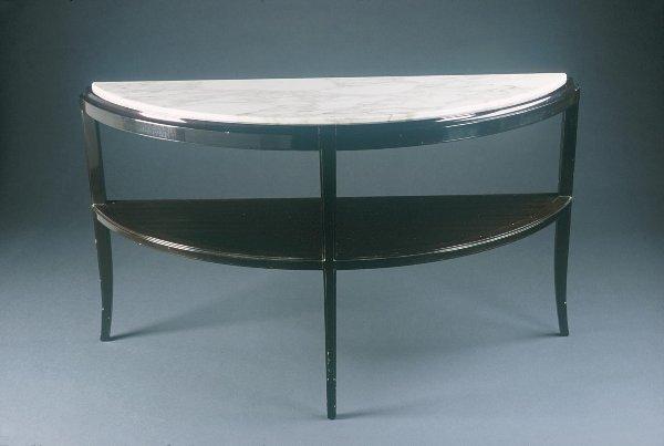 5: Tommi Parzinger Demi-lune Console Table