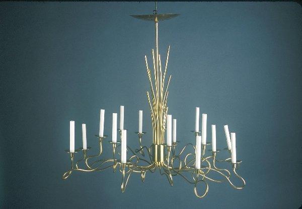 24: Italian Mid-Century Brass chandelier