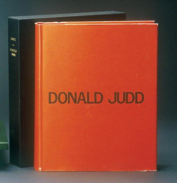 358: Donald Judd Book (1) exhibition raisonne