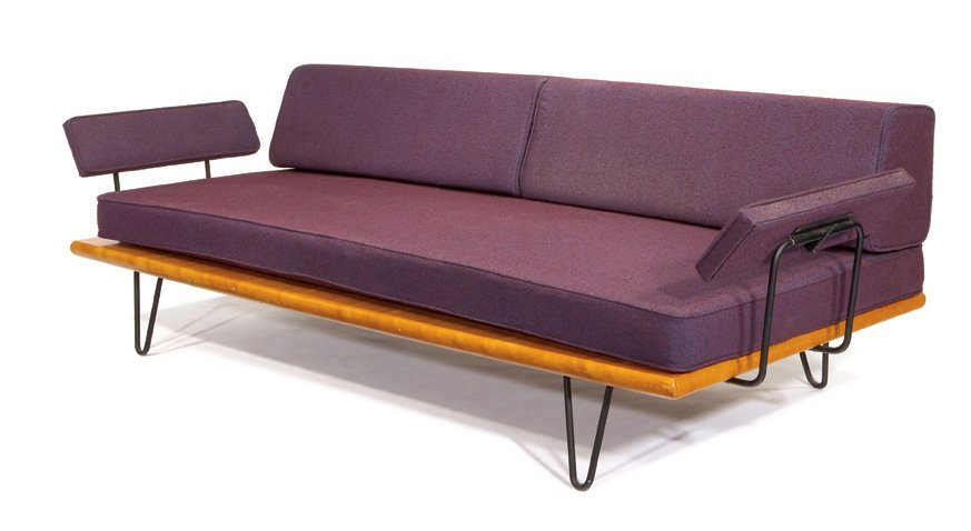 George Nelson, Rare Daybed with arms