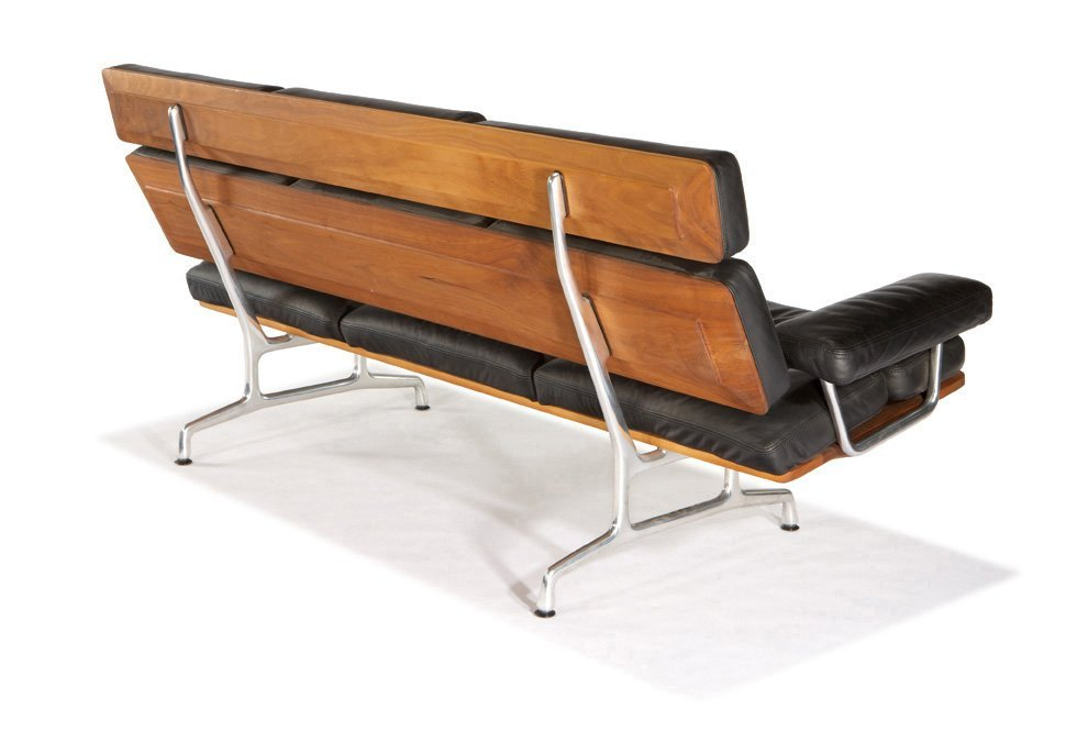 Charles & Ray Eames, Teak and leather sofa