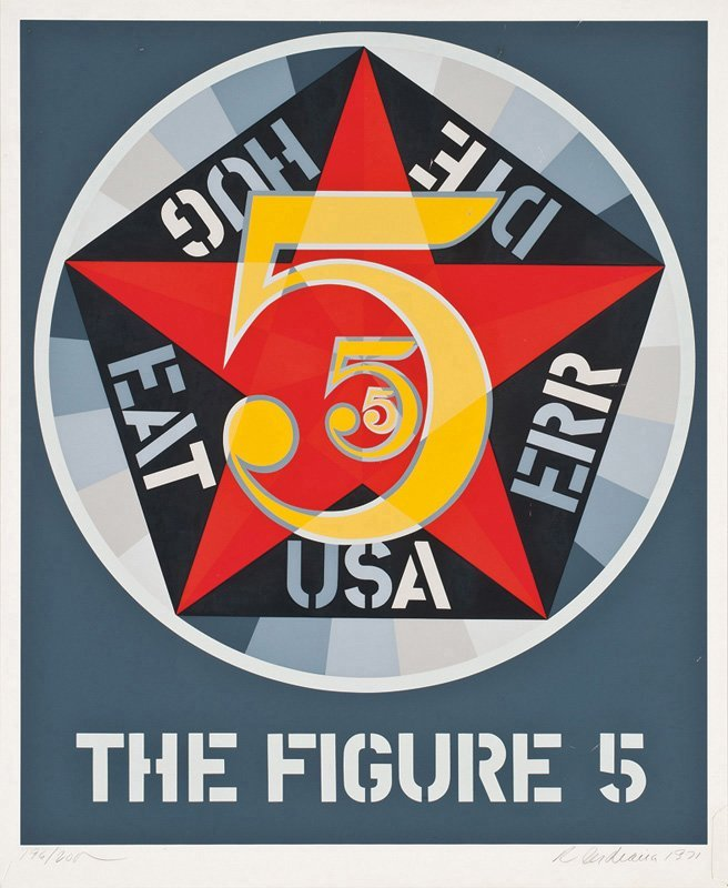 Robert Indiana, The Figure Five (from Decade series)