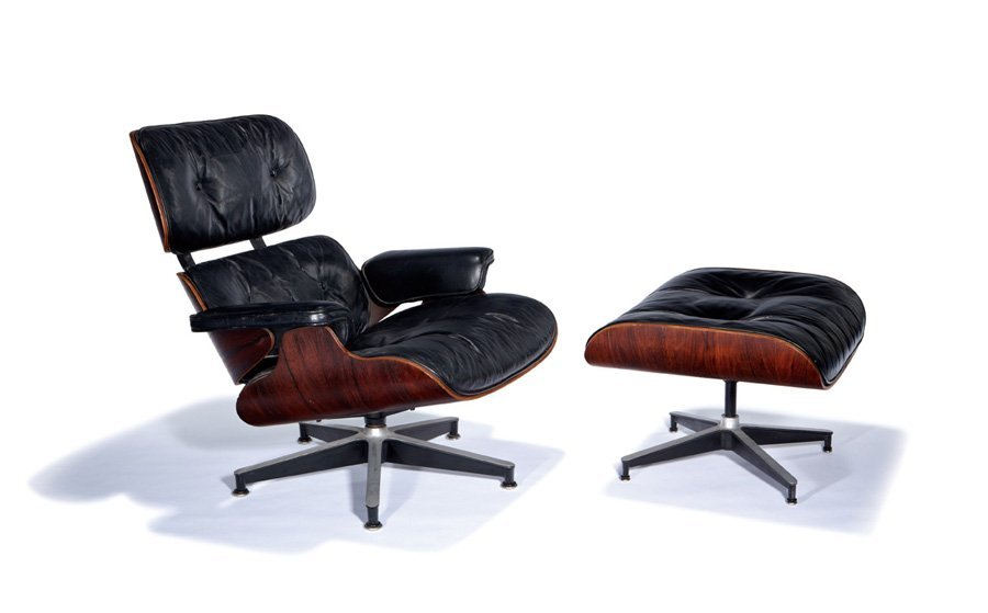 Charles & Ray Eames, Lounge chair and ottoman (2)