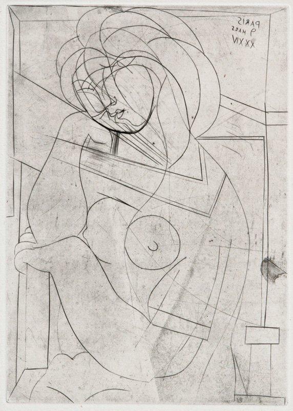 Pablo Picasso, Femme nue ... (La Suite Vollard)