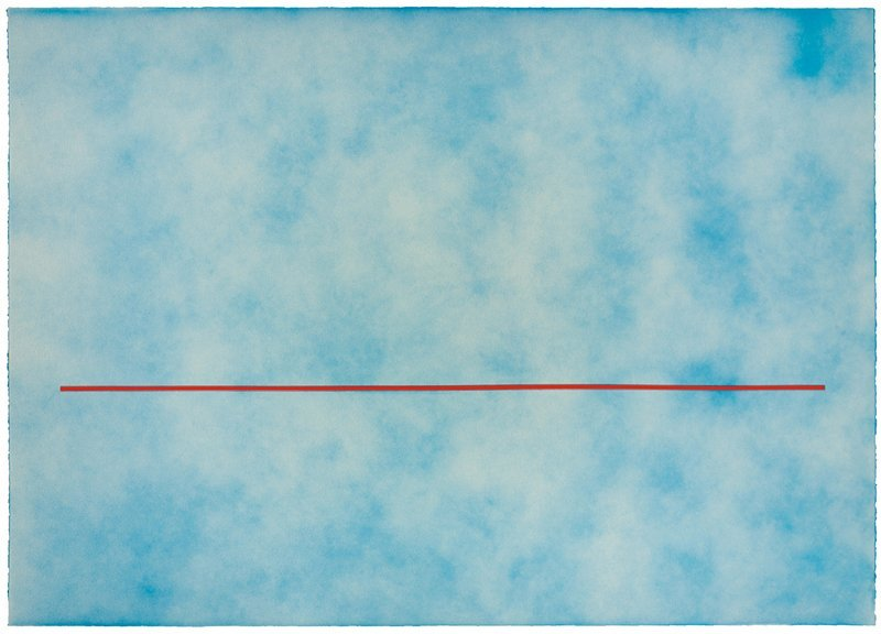 De Wain Valentine, Skyline (Blue with Thin Red Line)