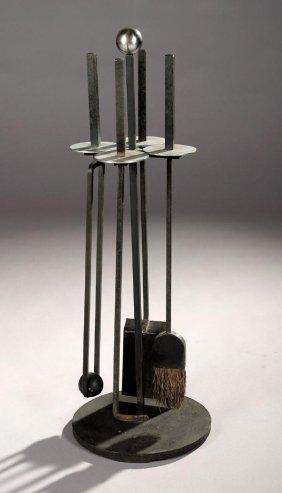 5: Mid Century Modern Fire tool set 1955 Eames era