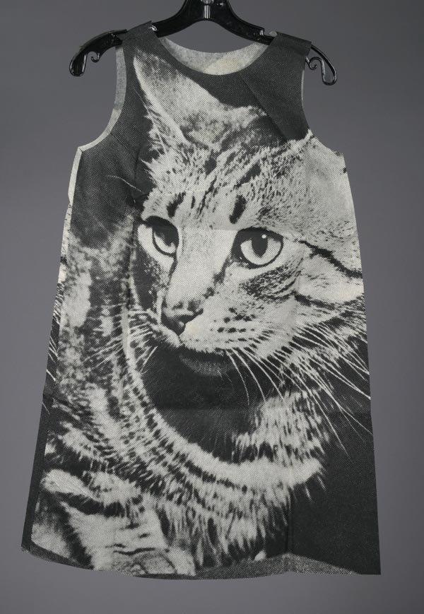 9: Paper Dress, London dress company, cat