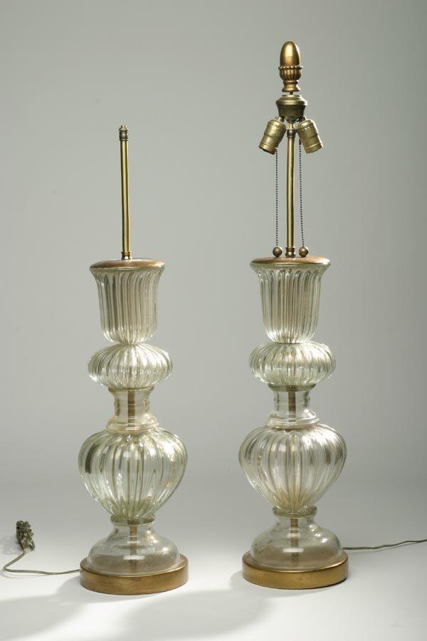 10: Attributed to Barovier, Murano lamps