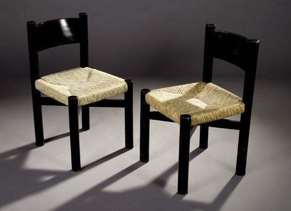 11: Charlotte Perriand Chairs, Sentou, Rush and Oak