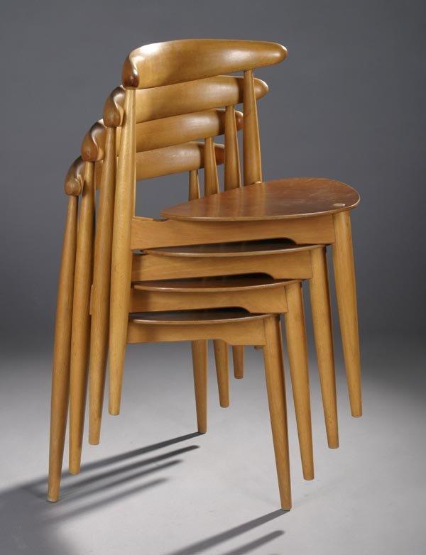 14: Hans J. Wegner Stacking chairs, Fritz Hansen #4103