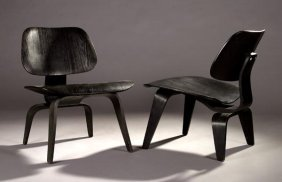 15: Charles & Ray Eames LCW chairs, Herman Miller