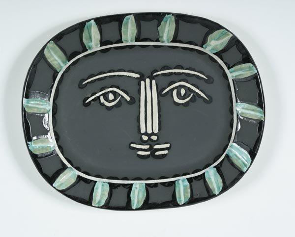 48: Pablo Picasso ceramic plate, Madoura Edition