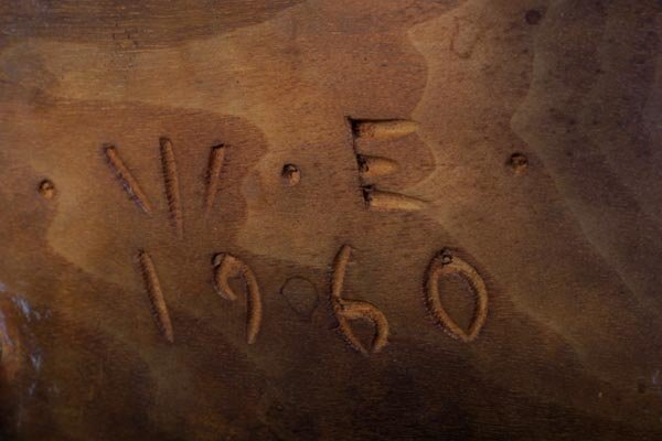 62: Wharton Esherick high stool, craftsman, Hickory - 2