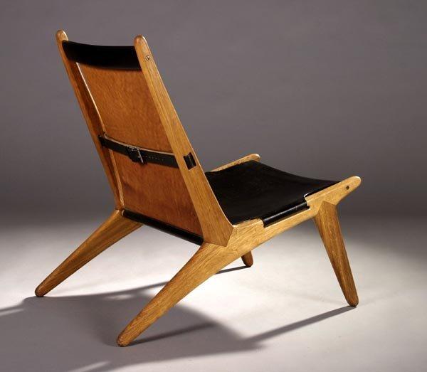 83: Swedish Modern Hunting Chair, Oak and Leather