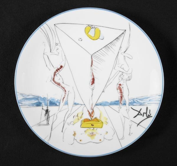 160: Salvador Dali 6 plates, Limoges, French - 2