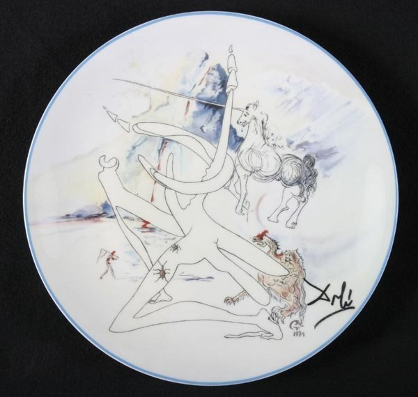160: Salvador Dali 6 plates, Limoges, French - 4