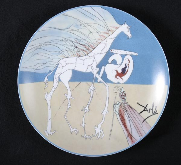 160: Salvador Dali 6 plates, Limoges, French - 6
