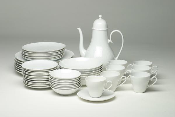 270: Bjorn Wiinblad Rosenthal Tea Set, Romance White