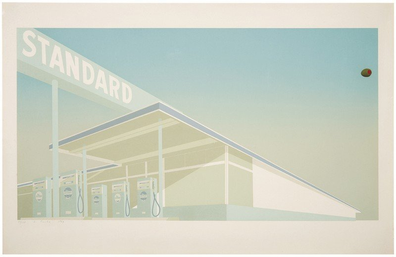Ed Ruscha, Cheese Mold Standard with Olive