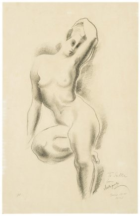 Alexander Archipenko, Untitled (seated Nude Female)